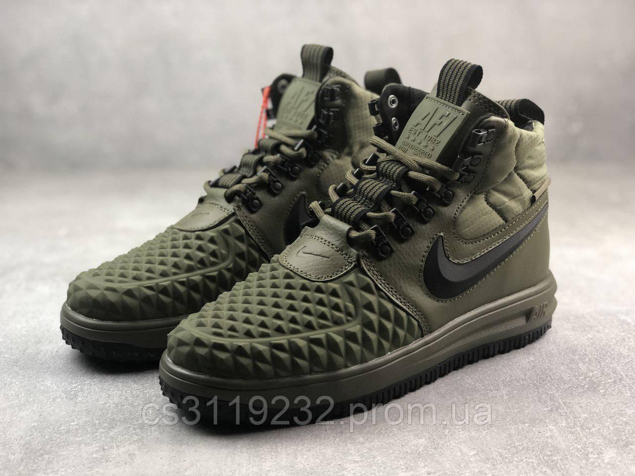 Мужские кроссовки Nike Lunar Force 1 Duckboot 17 (зеленые)