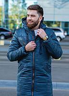 Куртка  мужская с капюшоном зимняя  в расцветках 51259