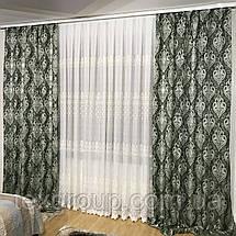 Шикарные готовые шторы №392 из жаккардовой ткани, фото 3