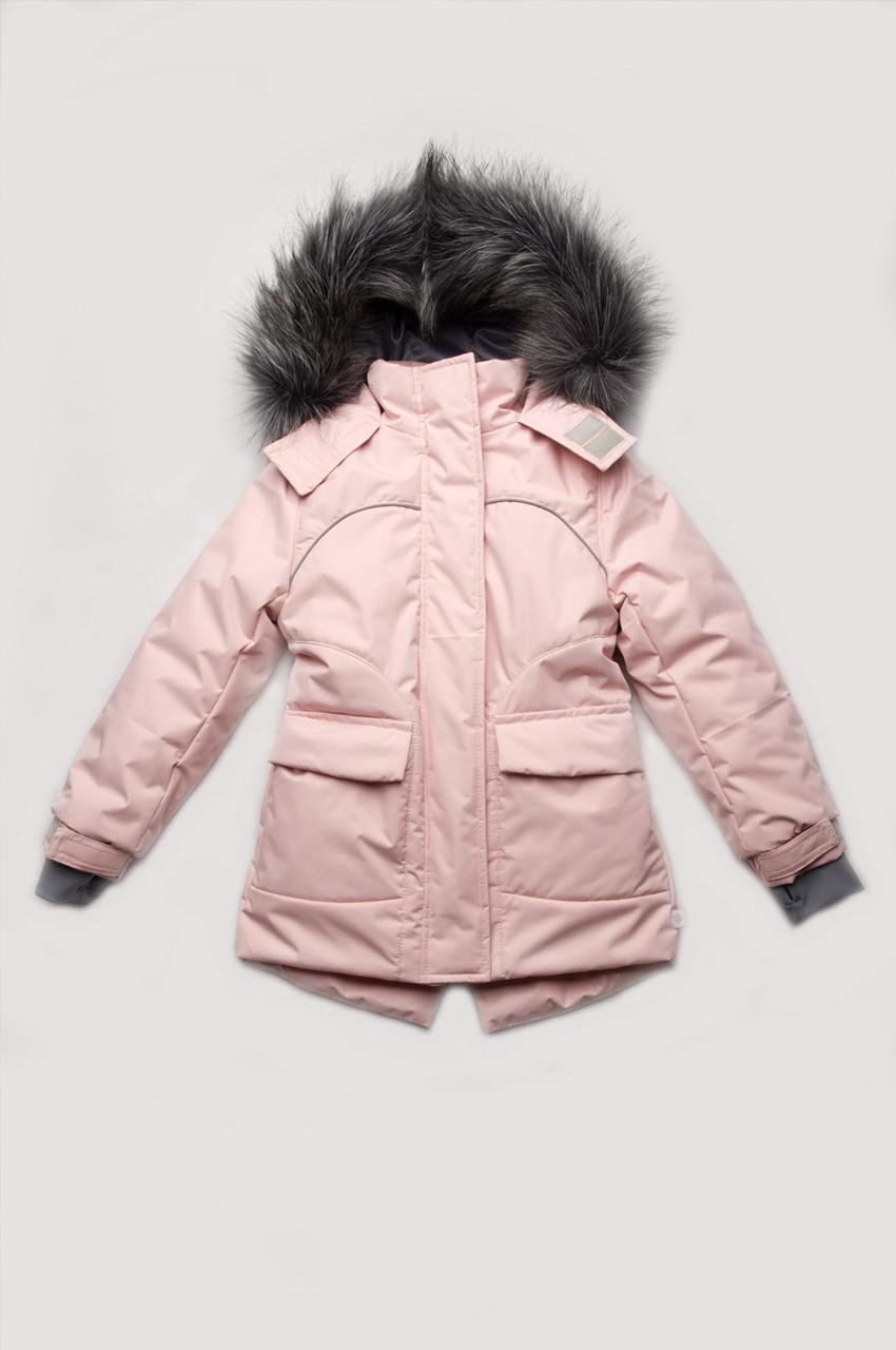 Куртка парка зимняя для девочки 110-134 см