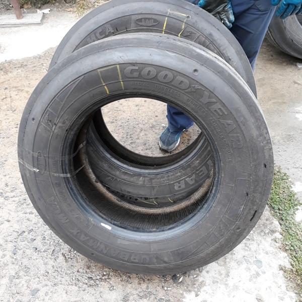 Шины б.у. 265.70.r19.5 Goodyear Urbanmax MCA Гудиер. Резина бу для грузовиков и автобусов