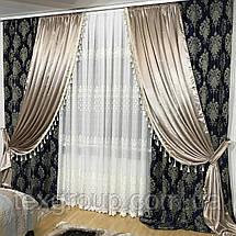 Готовые шторы декорированные бахромой №396, фото 2