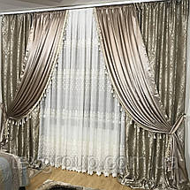 Готовые шторы декорированные бахромой №396, фото 3