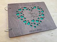 Дерев'яна весільна книга для побажань, фото 1