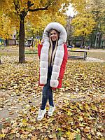 Женская парка с мехом песца ППЦ-060
