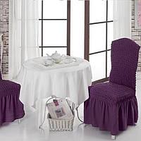 Чехол на стул Турция цвет фиолетовый
