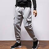 Хлопковый штаны с карманами на резинке, фото 3