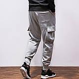 Хлопковый штаны с карманами на резинке, фото 4