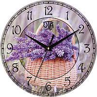 Часы настенные круглые Сирень