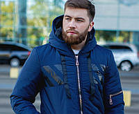 Куртка  мужская с капюшоном зимняя  в расцветках 51260