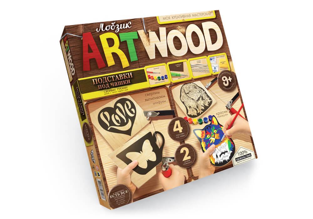 Набор креативного творчества Artwood подставки под чашки (LBZ-01-10)