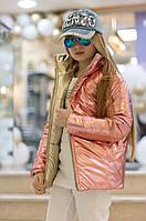Куртка стильная двухсторонняя  подросток в расцветках 51261, фото 1