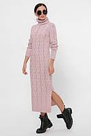 Вязаное женское платье длинное под горло в 6ти цветах Cameron