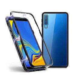 Магнитный чехол Full Glass 360 (Magnetic case) для Samsung Galaxy A7 2018