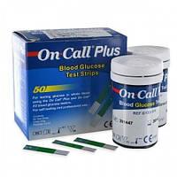 2 упаковки-Тестові смужки для глюкометра On Call Plus 50 шт. 01.12.2021 р.!!!
