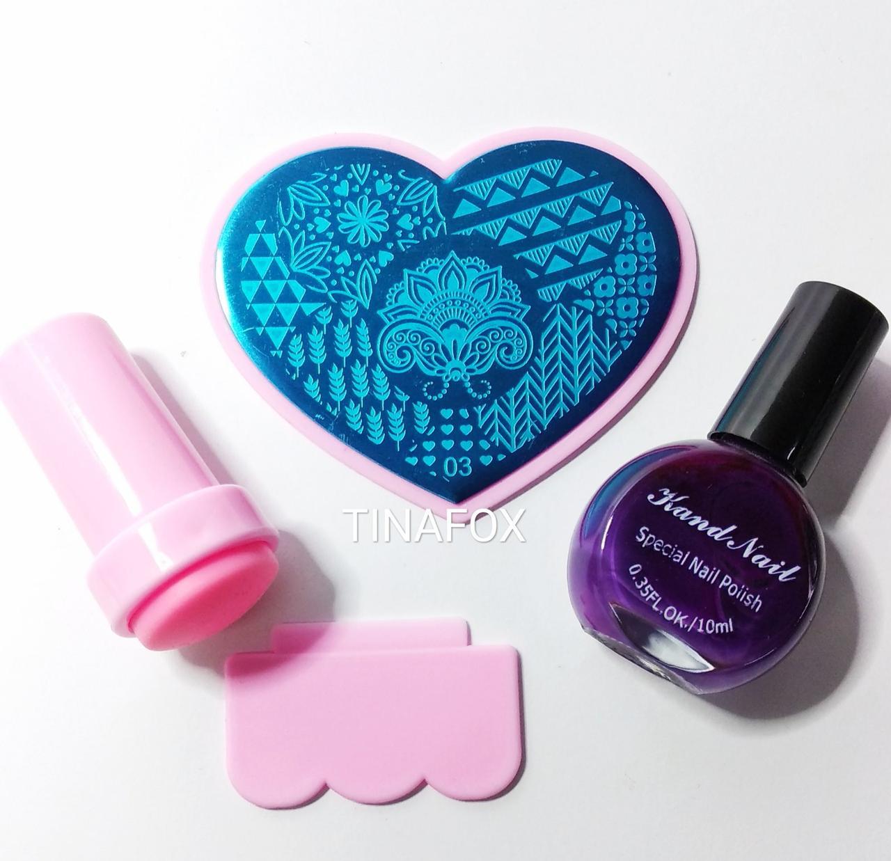 Набор для стемпинг дизайна ногтей 03