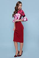 Платье прилегающего силуэта  с рукавами с воланом и юбкой-карандаш GLEM Розы платье Джес д/р