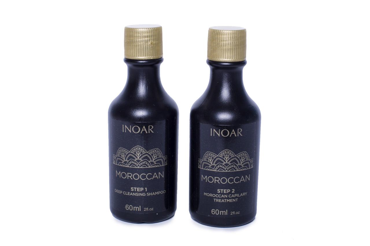 Кератин для слабых волос  Иноар Марокко: на 1 раз, 2х60 мл, фабрична яупаковка