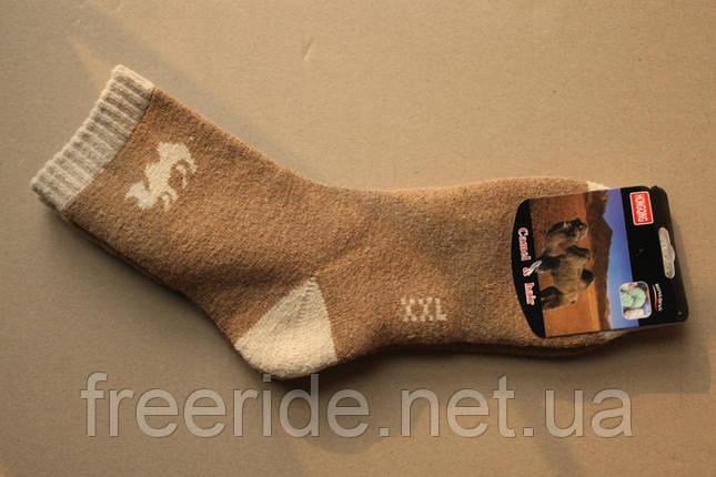 Махровые шерстяные носки Camel (42-43), термоноски, фото 2