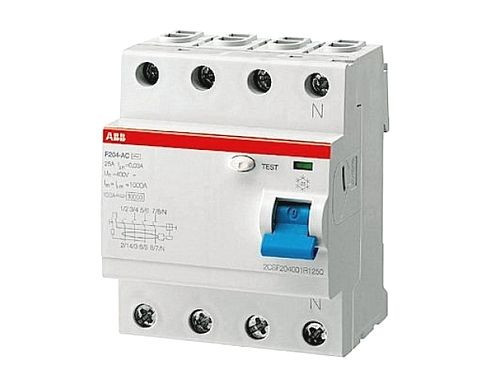 УЗО ABB F204A-25/0.3 (4п, 25A, Тип A, 300mA) 2CSF204101R3250