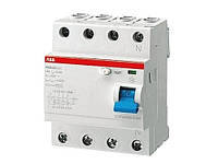 УЗО ABB F204A-100/0.1 (4п, 100A, Тип A, 100mA) 2CSF204101R2900