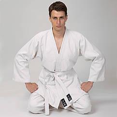 Кимоно для дзюдо белое MATSA  (хлопок-плотность 450г на м2, размер 000-7, рост-110-200см)MA-0013
