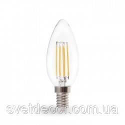 Светодиодная лампа Filament Feron LB-58 4W E14 свеча