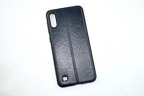 Чехол для телефона Samsung A70/A705 (2019) Silicone Fashion Leather Dark blue