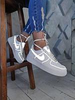 Женские кроссовки Nike Air Force с рефлективом ( в стиле Nike)