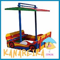 Уличная песочница для детского сада Машинка