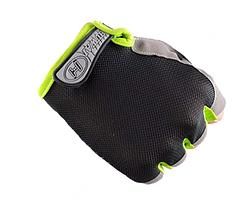 Женские перчатки DFGUS для фитнеса черные с серым размер М, фото 3