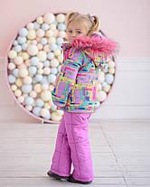 Зимний комбинезон для девочки с  опушкой на рост с 86 см до 110  см, фото 2