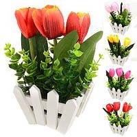"""Штучні квіти в горщику """"Парканчик"""" 7*7.5см R82766"""