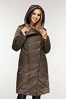 Пуховик  зимний, выполнен  из плащевой ткани, полуприлегающего силуэта с втачными рукавами с 44 по 58 размер, фото 3
