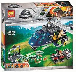 Конструктор Bela 10925 Парк юрского периода Погоня за Блю на вертолете