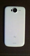 Крышка аккумулятора белая Fly IQ443 (оригинал)