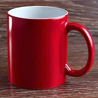 Чашка сублимационная.Хамелеон Полуглянец/330мл. (Красный)