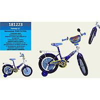 "Велосипед 2-х колес 12"" 181223(1шт) со звонком, зеркалом, без ручного тормоза"