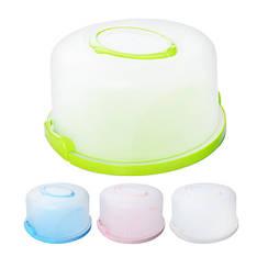 Тортівниця пластик круг с кришкой, R86493