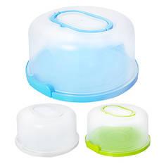 Тортівниця пластик круг с кришкой, R86492