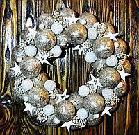 Венок новогодний из шаров. Бронза, фото 1
