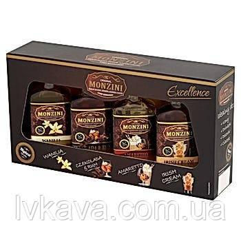 Набор сиропов для кофе Monzini , 4 x 50 ml, фото 2