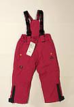 Лыжные штаны-полукомбинезон р.98 (синие и розовые), фото 9