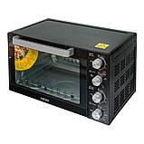 Электродуховка с конвекцией 35 литров черная ROTEX ROT350-B, фото 4