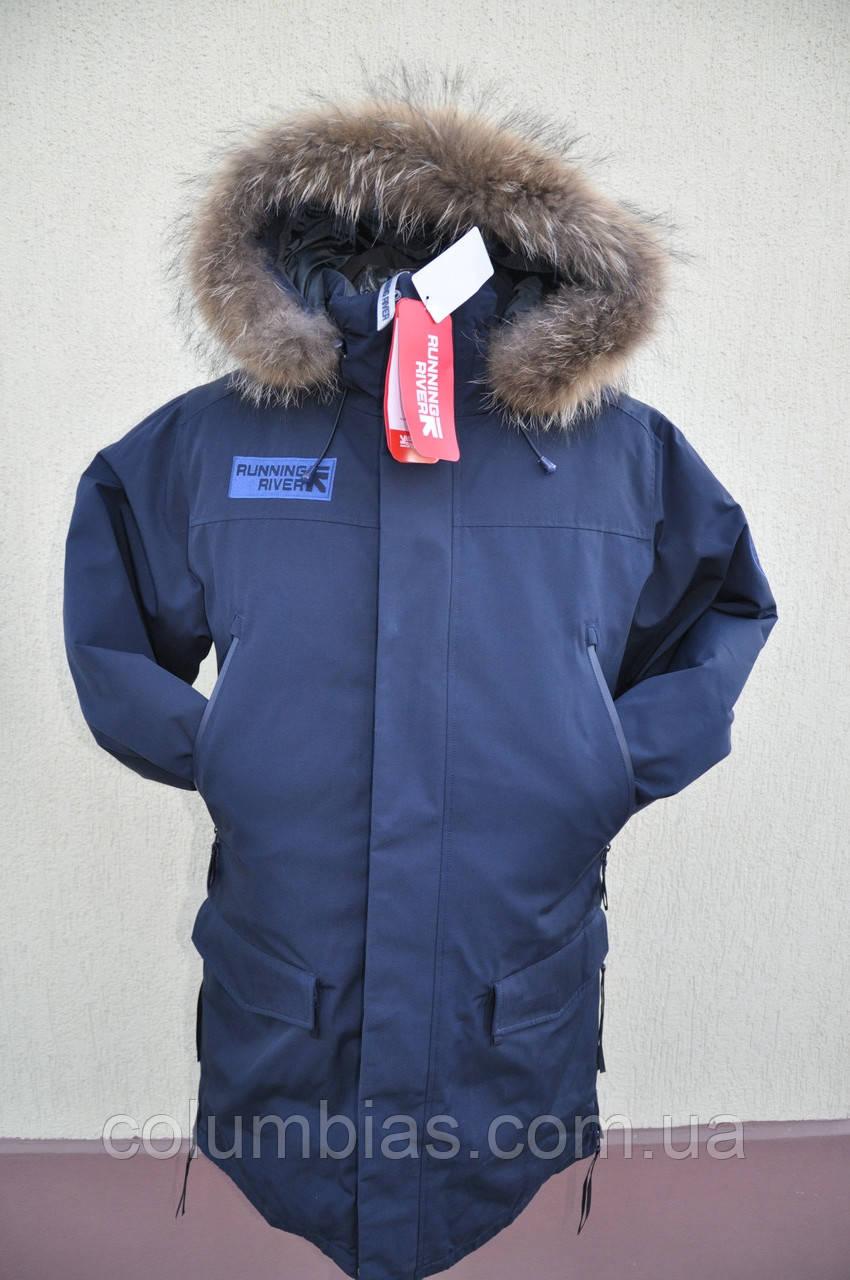 Мужская длинная зимняя куртка Running River