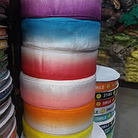 Лента (тесьма) цветная.Ширина 4 см.Бобина 100 ярдов (91.44 м).