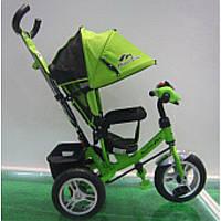 Велосипед 3-х колес TR17011 ЗЕЛ (1шт) складной козырек,надувные колеса 12'' и 10''