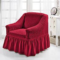 Чехол на кресло Турция цвет Бордовый