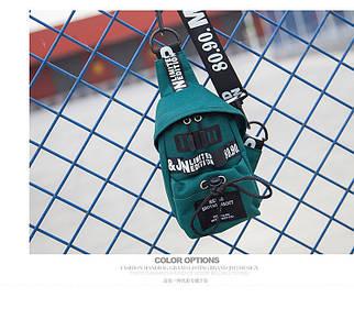 Слінг сумка HiFlash в корейському стилі жіноча зелений