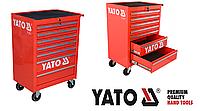 Инструментальная тележка на колёсах с выдвижными ящиками Yato(Оригинал) Польша YT-0914
